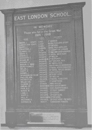 lewisham east london industrial school ww1 war memorial