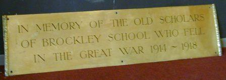 Brockley School WW1 War Memorial