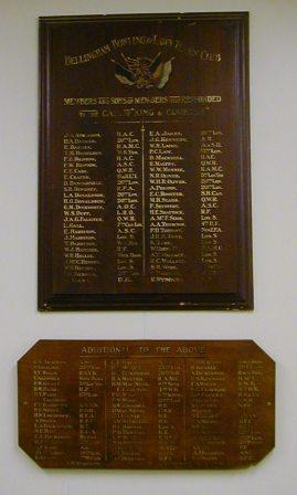 Bellingham Bowling & Lawn Tennis Club War Memorial
