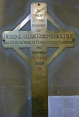 Derrick Allan Kirkpatrick PileWar Memorial
