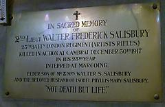 Walter Frederick Salisbury War Memorial