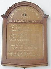 Salvation Army Catford Corps WW2 Memorial, Catford