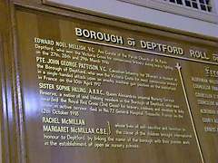 Deptford Town Hall Roll of Honour