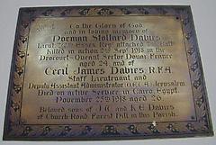 Norman Stollard Davies War Memorial