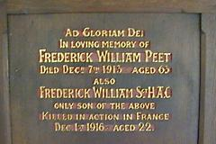 Frederick William Peet War Memorial