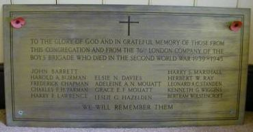 St John Presbyterian Church War Memorial