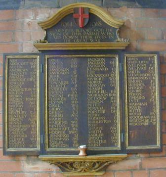St Catherine Hatcham WW1 War Memorial
