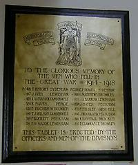 Police Station WW1 War Memorial, Catford