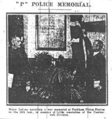 Unveilling of Police Station Memorial at Peckham Police Station